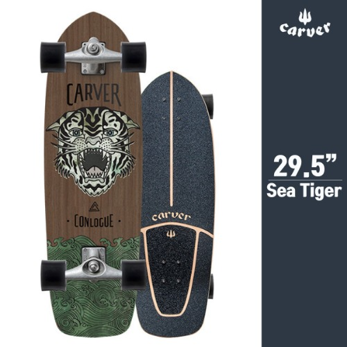 "스케이트보드 29.5"" Conlogue Sea Tiger Surfskate Complete"